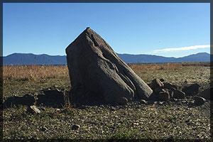 Lake Tahoe water level - marker rock