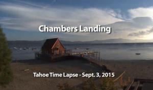 Tahoe Time Lapse: Chambers Landing