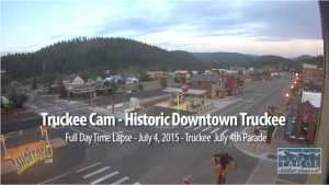 Downtown Truckee Time Lapse - July 4th Parade & Thunderstorm