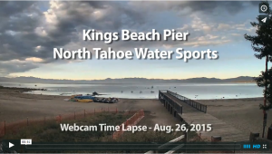 Tahoe Time Lapse - Kings Beach Pier - North Tahoe Watersports
