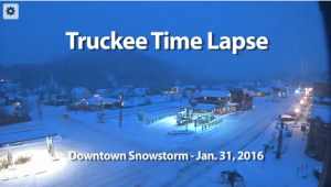 Truckee Time Lapse - January Snowstorm