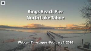 Tahoe Time Lapse: Kings Beach Pier