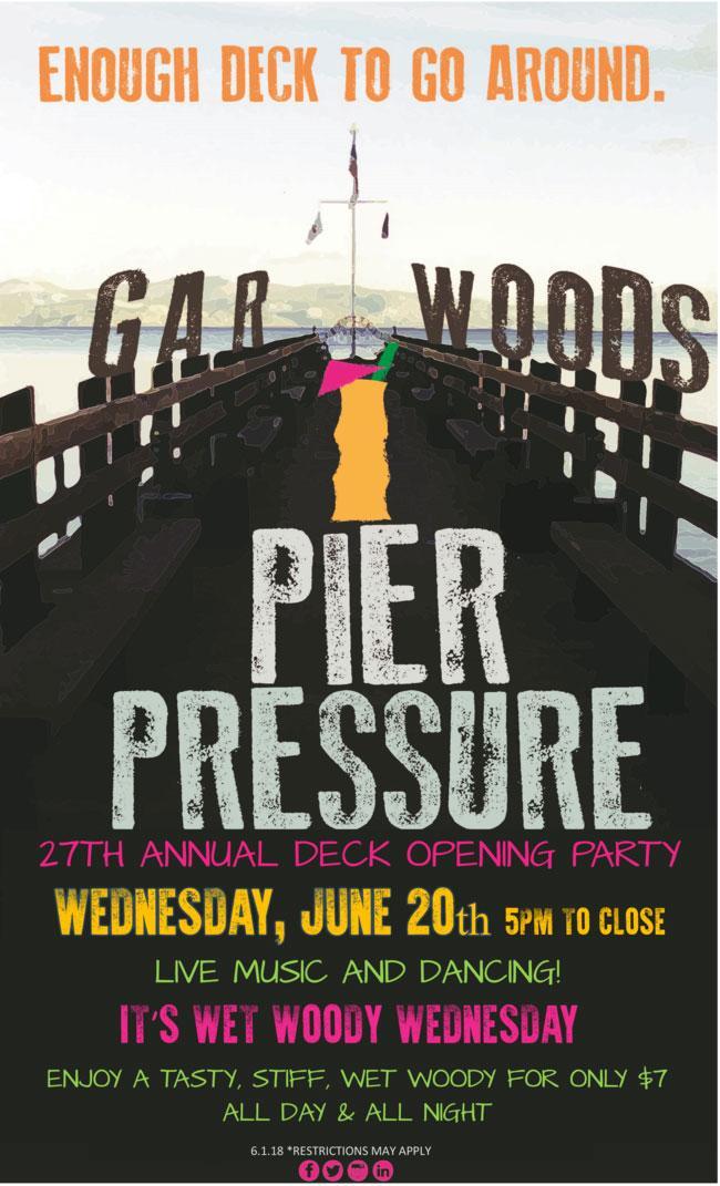 Gar Woods Pier Pressure Deck Opening Party