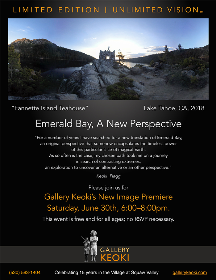 Gallery Keoki Image Premiere - Emerald Bay - A New Perspective