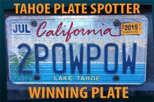 Lake Tahoe License Plates Plate Spotter Winner
