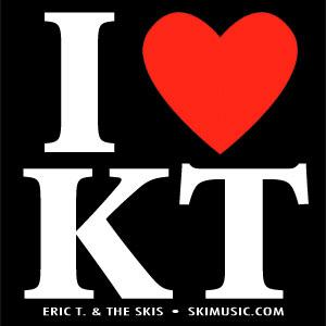 I Love KT - Free Sticker   Ski Music - Eric T. & the Skis